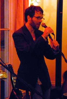 Local artist Ed Randazzo performs at Tripp House in Scranton.  Photo by Lynn Vala