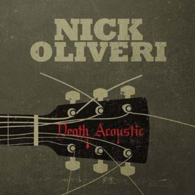The cover of the CD filled with the mellow (?) side of Nick Oliveri and his acoustic interpretations of Queens Of The Stone Age, Mondo Generator and Oliveri standards.  With a title like 'Death Acoustic', I am not sure how mellow these versions will be!  Cover photo courtesy Impedance Records.