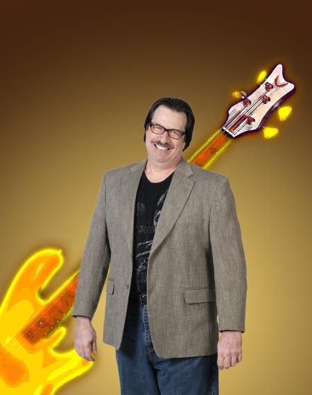 "Legendary jazz/fusion bassist Jeff Berlin in a promotional picture for his 2010 release ""High Standards"".  Photo courtesy Jeff Berlin"