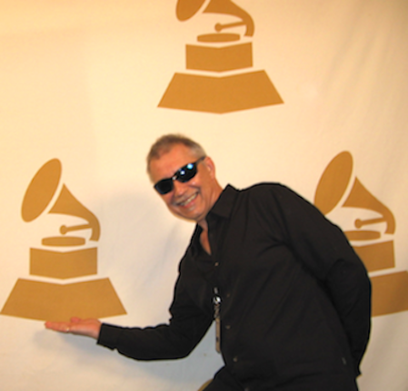 Gary Tanin hams it up at the Chicago Chapter Grammy Event. Photo courtesy Gary Tanin