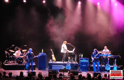 Alan Parsons Live Project.  Parsons (center) brings a crack squad of musicians to Lehigh University.  Photo by Lynn Vala