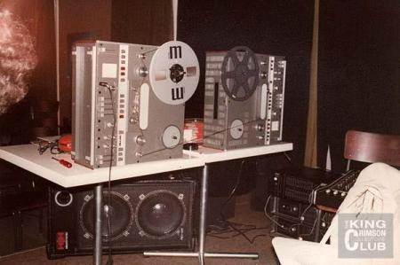 The Frippertronics rig that launched a thousand loops.  Photo courtesy The Crimson Collectors Club.
