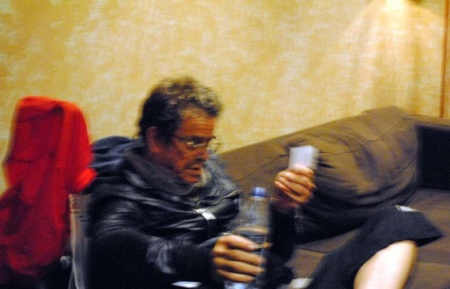 A blurry photo and the distinct memory of meeting an icon.  Lou Reed, dead at 71.  Photo by Lynn Vala