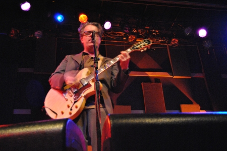Sometimes the emotional content of Mulcahy's songs even get to him.  Ever the trooper, the show must go on.  Photo by Lynn Vala