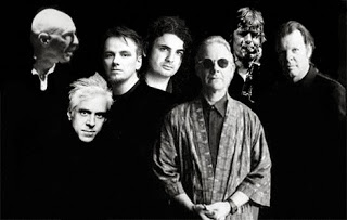 This is King Crimson 2014: Left to right, Tony Levin, Bill Rieflin, Gavin Harrison, Jakko Jakszyk, Robert Fripp, Mel Collins and Pat Mastelotto.  It is what it is.  Photo courtesy DGM.