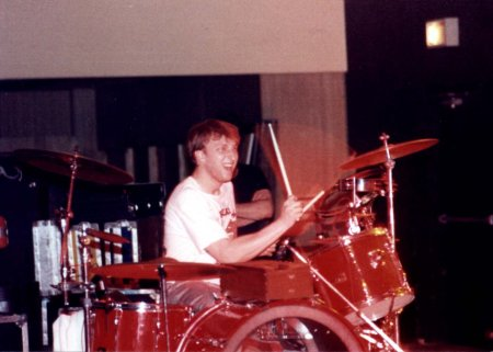 Little drummer boy Arduser in Allentown PA during the Rise And Shine tour. Photo courtesy the Coming Age archives.